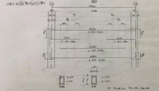 一級鉄筋技能士試験勉強対策【施工図】小梁の書き方