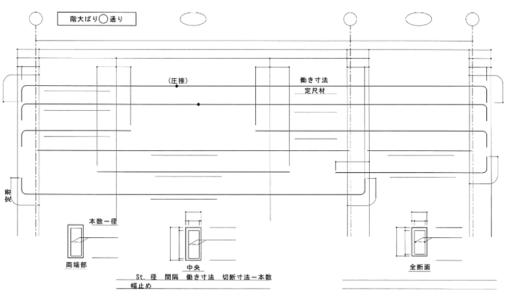 一級鉄筋技能士試験勉強対策【施工図】大梁の書き方